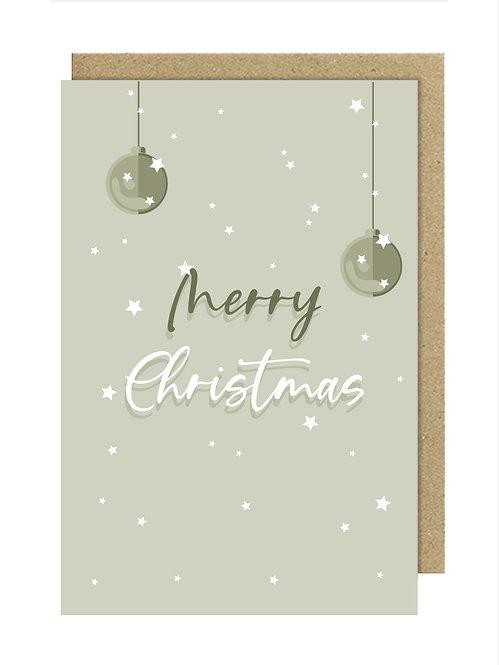 Merry Christmas Gri Kartpostal