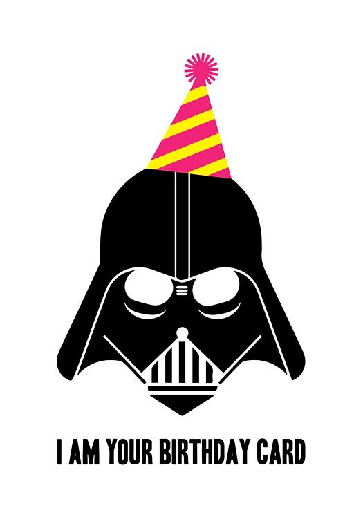 'I'm your birthday card' tebrik kartı