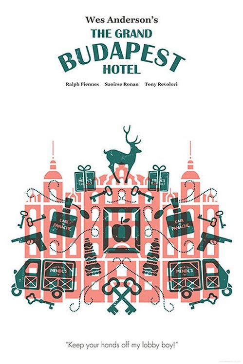 Wes Anderson Budapeşte Oteli Film İllustrasyonu
