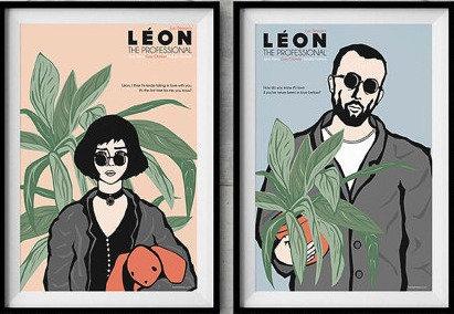 Leon the Proffessional Film İllustrayon Seti