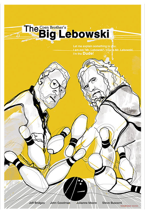 The Big Lebowski Film İllüstrasyonu