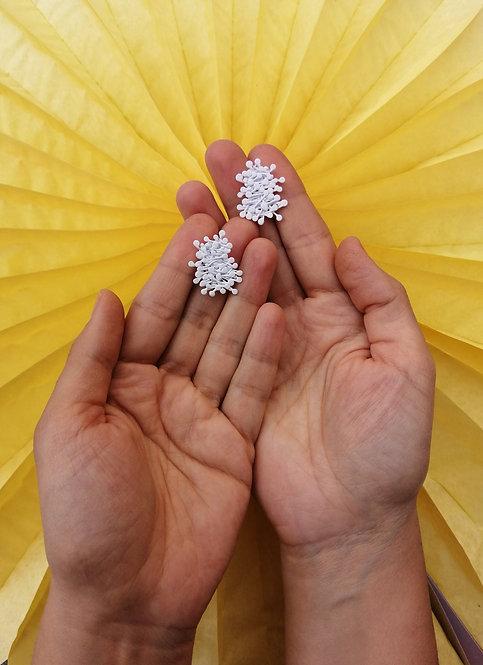 Dandelion Küpe-Beyaz