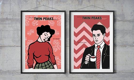 Twin Peaks İllüstrasyon 2li Set