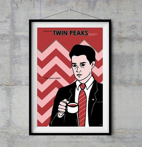 Twin Peaks Ajan Cooper İllustrasyonu