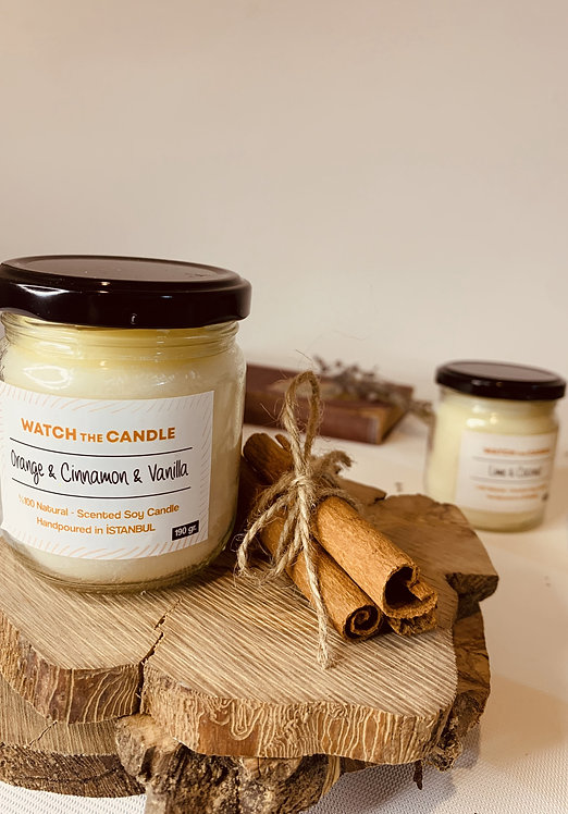 Watch The Candle Portakal&Tarçın&Vanilya Kokulu Soya Mumu