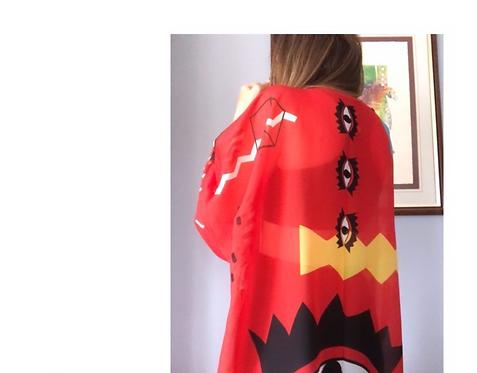 Eye Browse Kimono Kırmızı