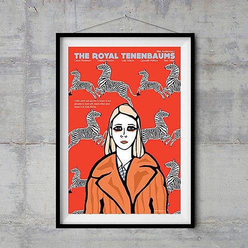 Wes Anderson Royal Tenenbaums Margot Film İllustrasyonu