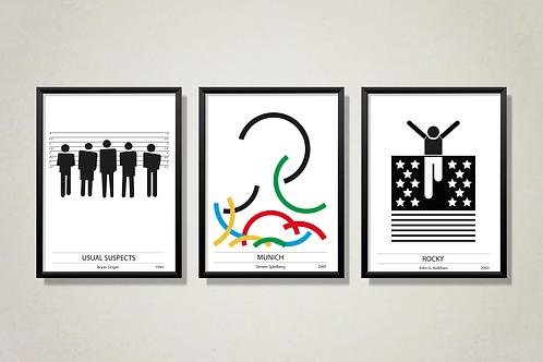 Unutulmaz Filmler Siyah/Beyaz Poster Serisi