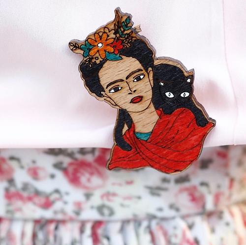 Frida&Cat Pin