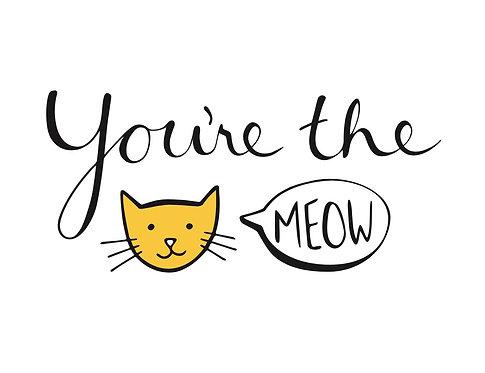 'You're the Meow' tebrik kartı