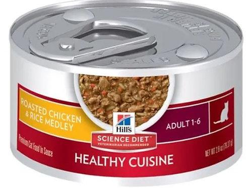 HILLS FELINE ADULT ORIGINAL HEALTHY CUISINE - 79.37G