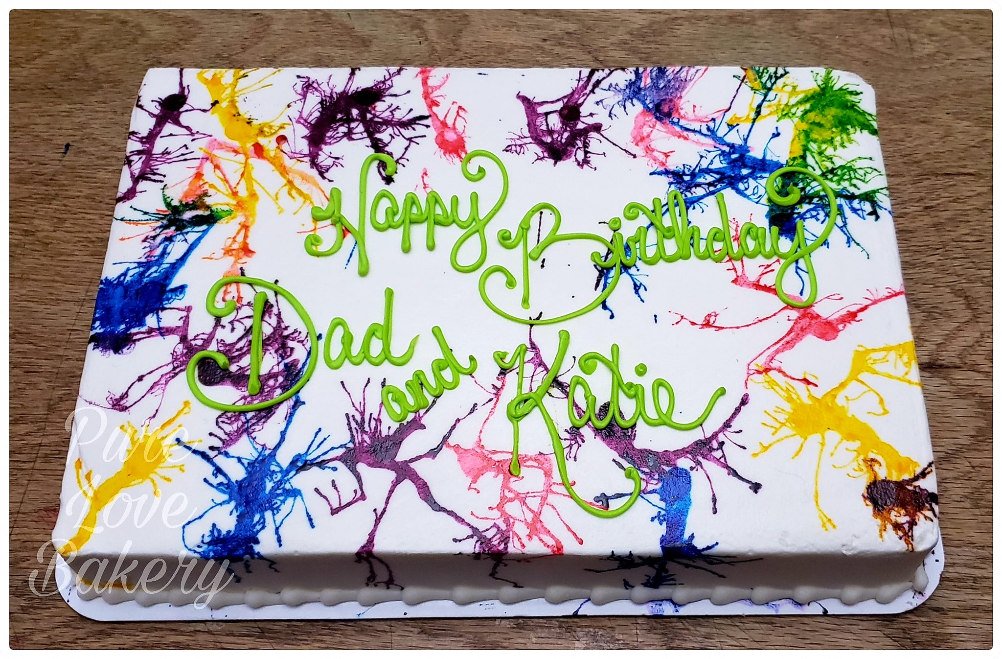 Fine Birthday Cakes Pure Love Bakery Personalised Birthday Cards Sponlily Jamesorg