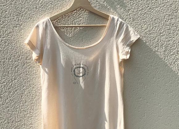 T-shirt saumon fleur