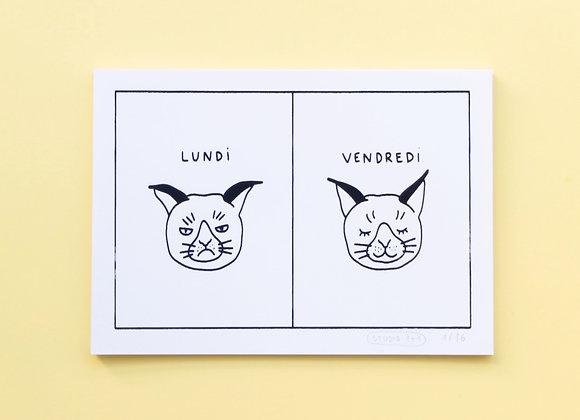 lundi/vendredi cat