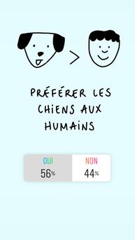 chiens > humains