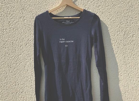 T-shirt manches longues marine slow fashion