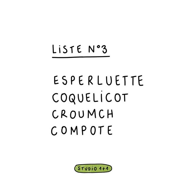 4 mots = 1 dessin —Liste 3
