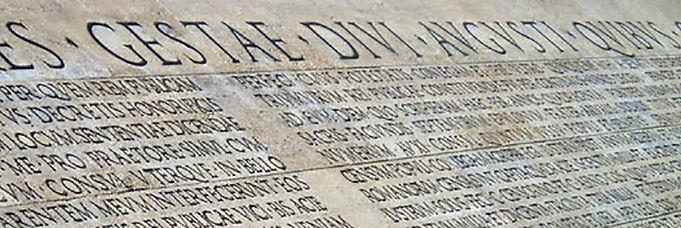 Res gestae Augusti: l'epigrafe, il monumento, il significato | Iuav | 27.5.2009