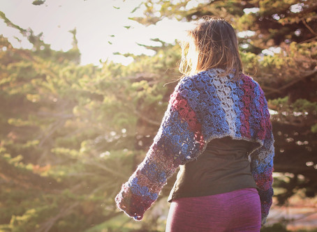Crochet Wrapped in Petals Shrug Pattern +  Tutorial
