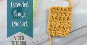 Crochet Extended Single Crochet Stitch Tutorial