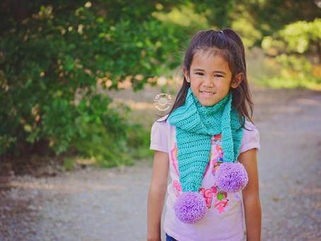 Crochet LuLu Pom Pom Scarf Pattern