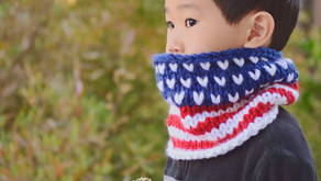 Knit Stars & Stripes Cowl