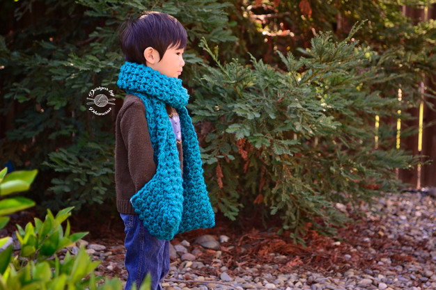 Crochet Chunky Scarf With Pockets Free Pattern