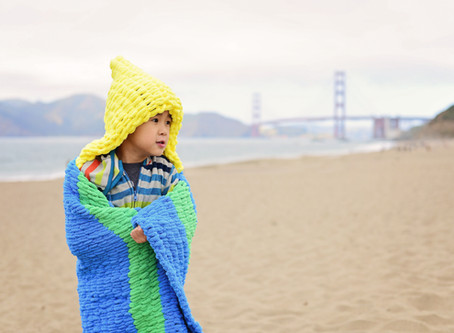 Knit a Kid's Beach Hoodie without needles!