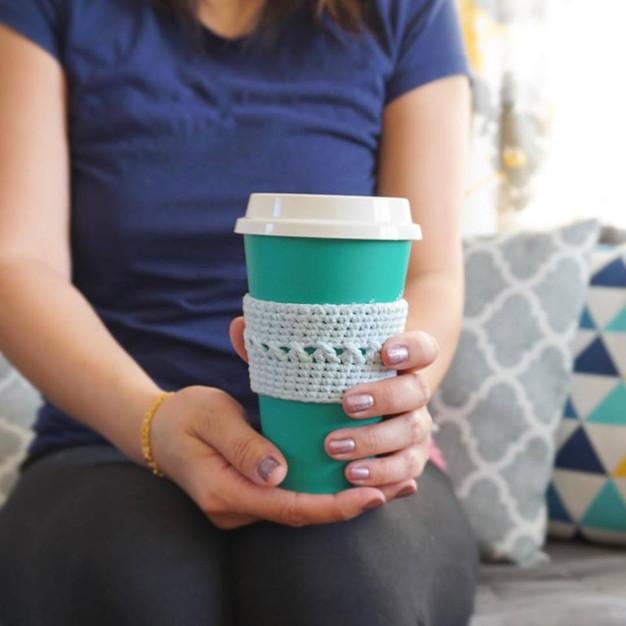 Crochet Coffee Cozy Sleeve Pattern