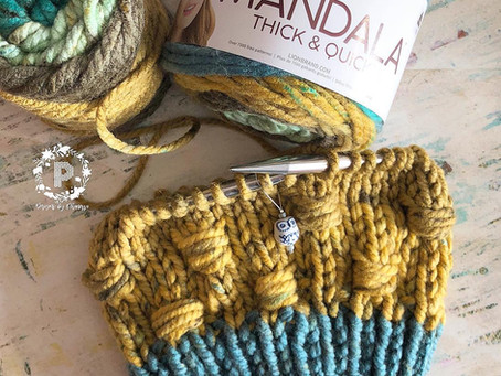 Knit Cluster Stitch Pattern & Tutorial