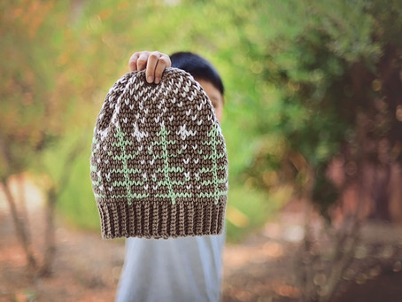 Crochet Winter Forest Beanie Pattern Release