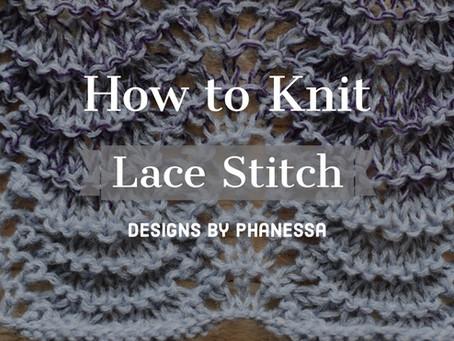 Knit Lace Stitch Pattern & Tutorial