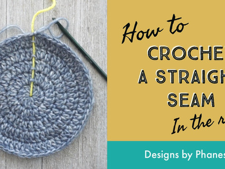 How to Crochet a Straight Seam in the Round Tutorial