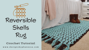 Crochet Reversible Shells Rug Pattern & Tutorial