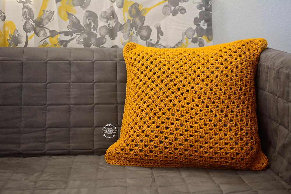 Granny Square Pillow Cover