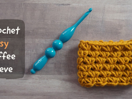 Crochet Daisy Coffee Sleeve Pattern & Tutorial