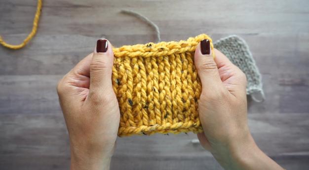 Tunisian Knit Stitch (TKS) Tutorial