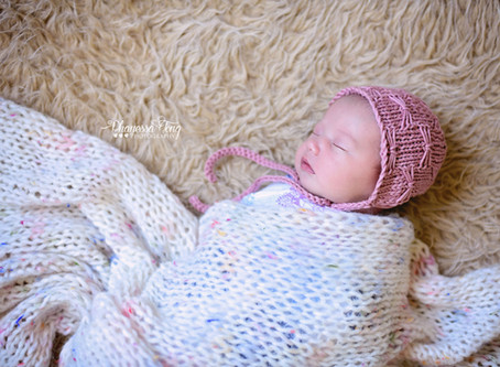 Knit Newborn Butterfly Bonnet Pattern & Tutorial