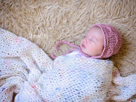 Knit Newborn Butterfly Bonnet Pattern & Tutorial