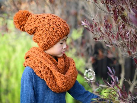 Burly Knit Infinity Scarf & Beanie Pattern