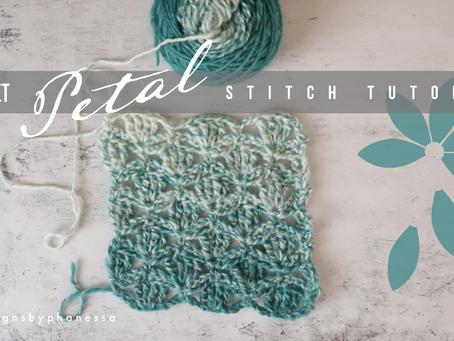 Crochet Petal Stitch Pattern +  Tutorial