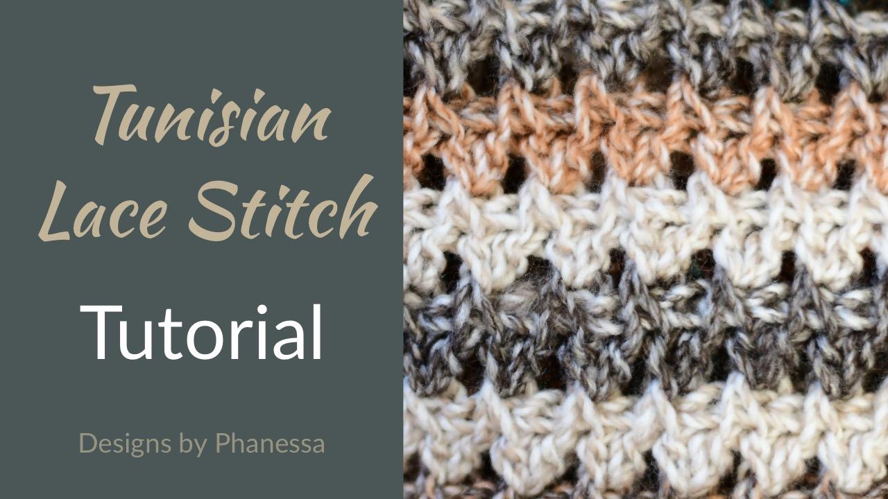 Tunisian Lace Stitch 1 Tutorial