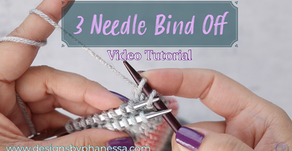 Three Needle Bind Off - Step-by-Step Tutorial