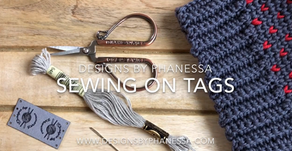 How to attach product tags to beanies (or handmade items)