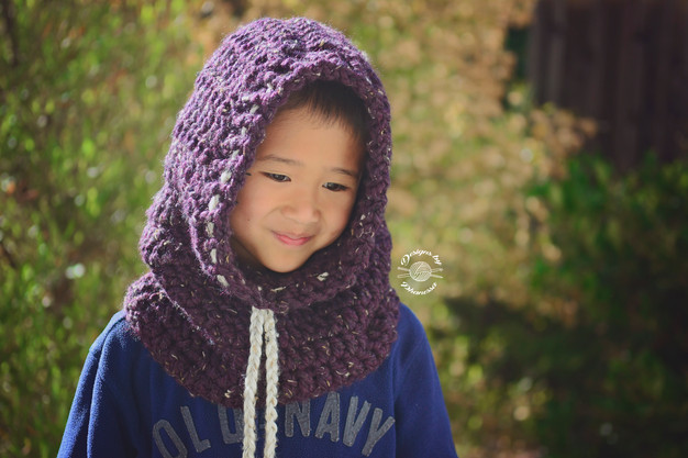 Crochet Evan Chunky Hooded Cowl