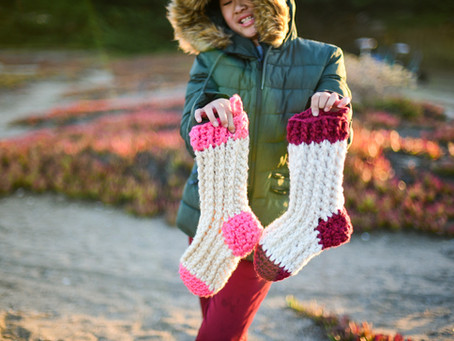 Crochet Christmas Stocking Pattern Tutorial