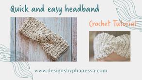Crochet Quick & Easy Headband Pattern + Video Tutorial