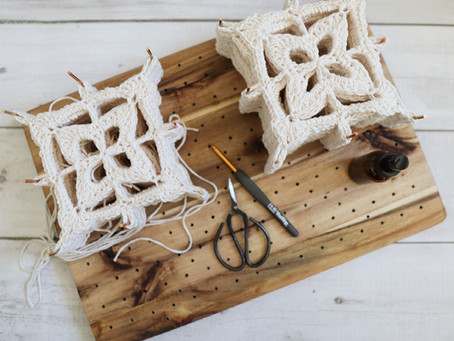 How to Wet Block Your Granny Square