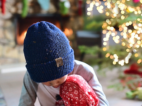 Knit Double Layered Beanie Pattern + Tutorial