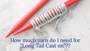 How much yarn do I need for a Long Tail Cast on?